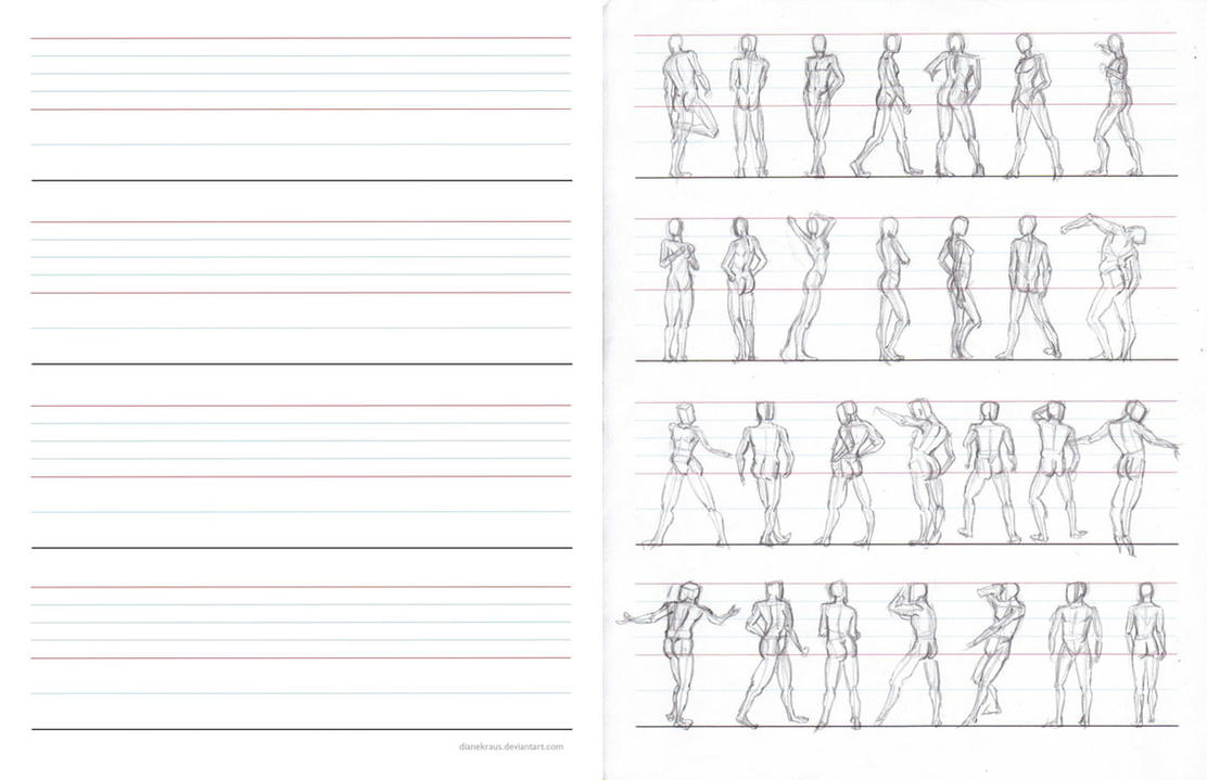 Figure Proportions Practice Sheets by DianetheKraus