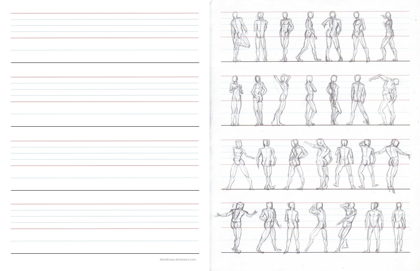Figure Proportions Practice Sheets by HJWinn