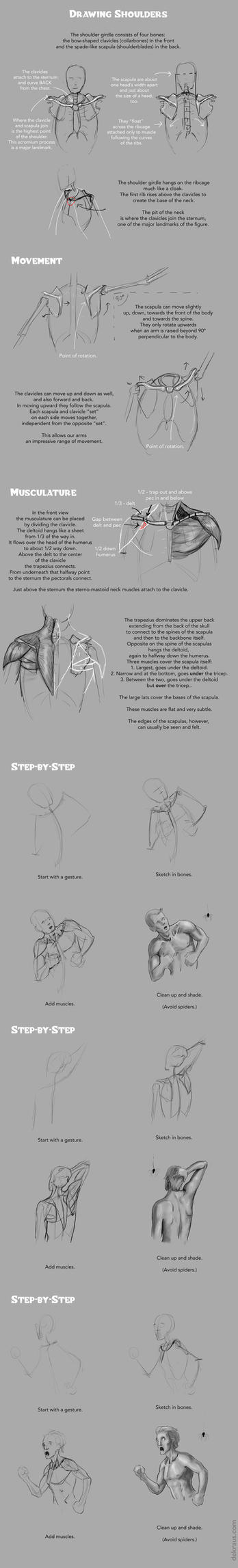 Drawing Shoulders Tutorial by banjodi
