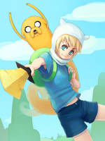 Finn and Jake by Advanced-Random