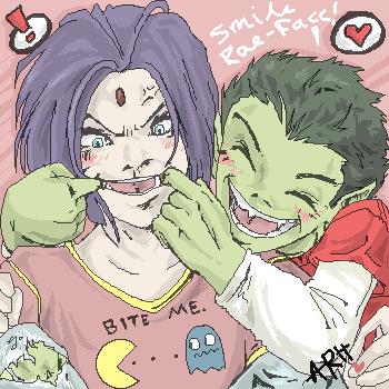 TT-Oekaki-Smile, Rae-face :D by ramhay