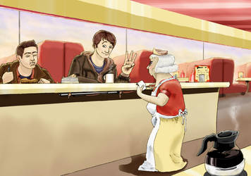 At the diner by Tuulisusi