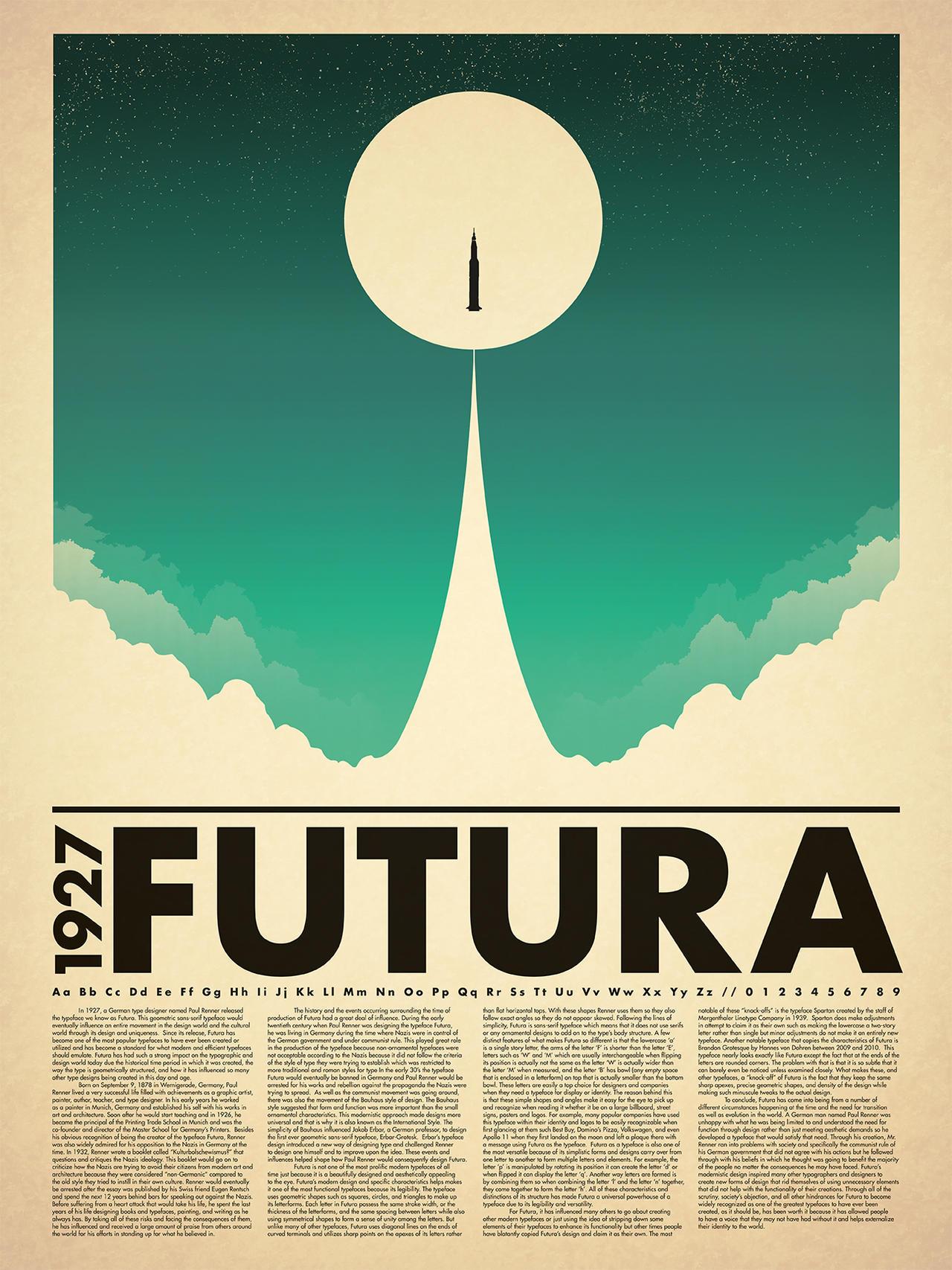 futura typography poster by redx raven on deviantart