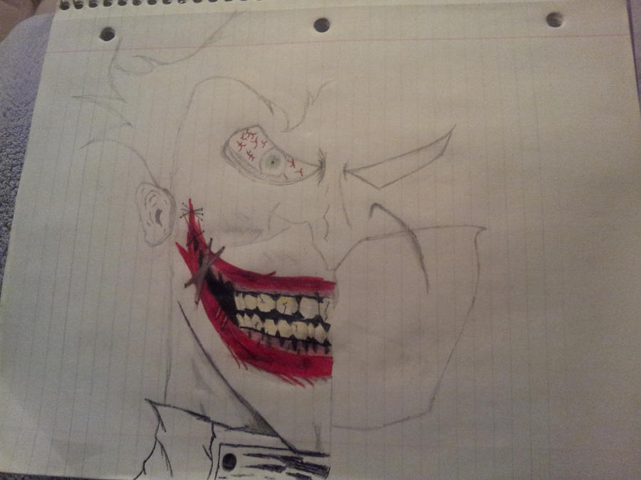Half Joker Half Batman (unfinished) by DCComicsFanboy