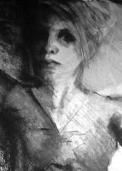 Charcoal made in my backyard and painted me by LovinFineArtistry