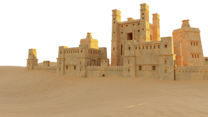 Castle in the Desert Free PNG Stock
