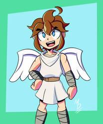 Little angel boy