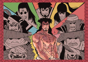 One piece Lord Oden by PhenkyStephen