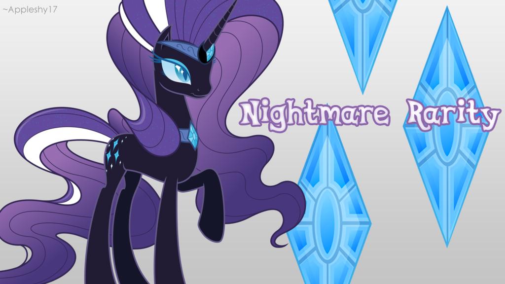 Nightmare Rarity Wallpaper by Appleshy17