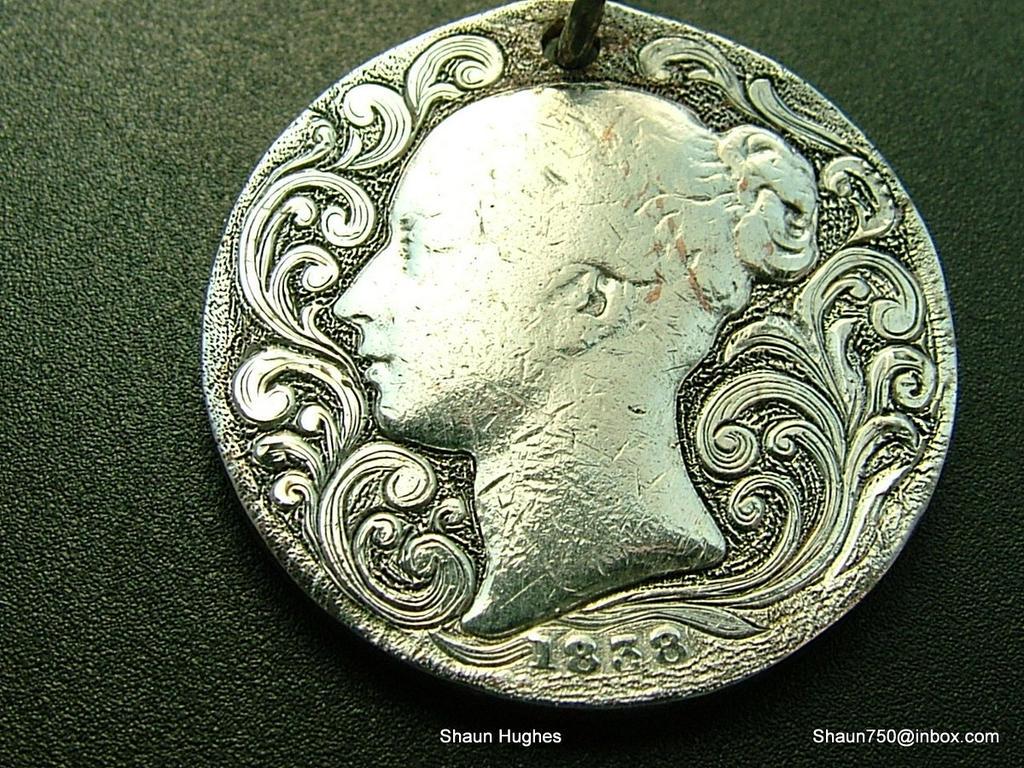 engraved coin love token