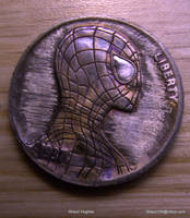 Hand Carved Spider-Man Hobo Nickel by shaun750