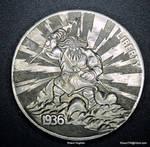 Zeus Hobo Nickel Finished