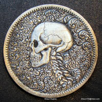 Skull and Spine with Scroll Work by Shaun Hughes by shaun750