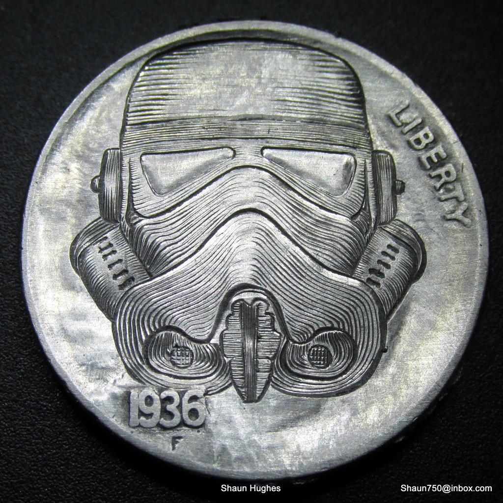 Star Wars Stormtrooper Carved Nickel  Shaun Hughes by shaun750