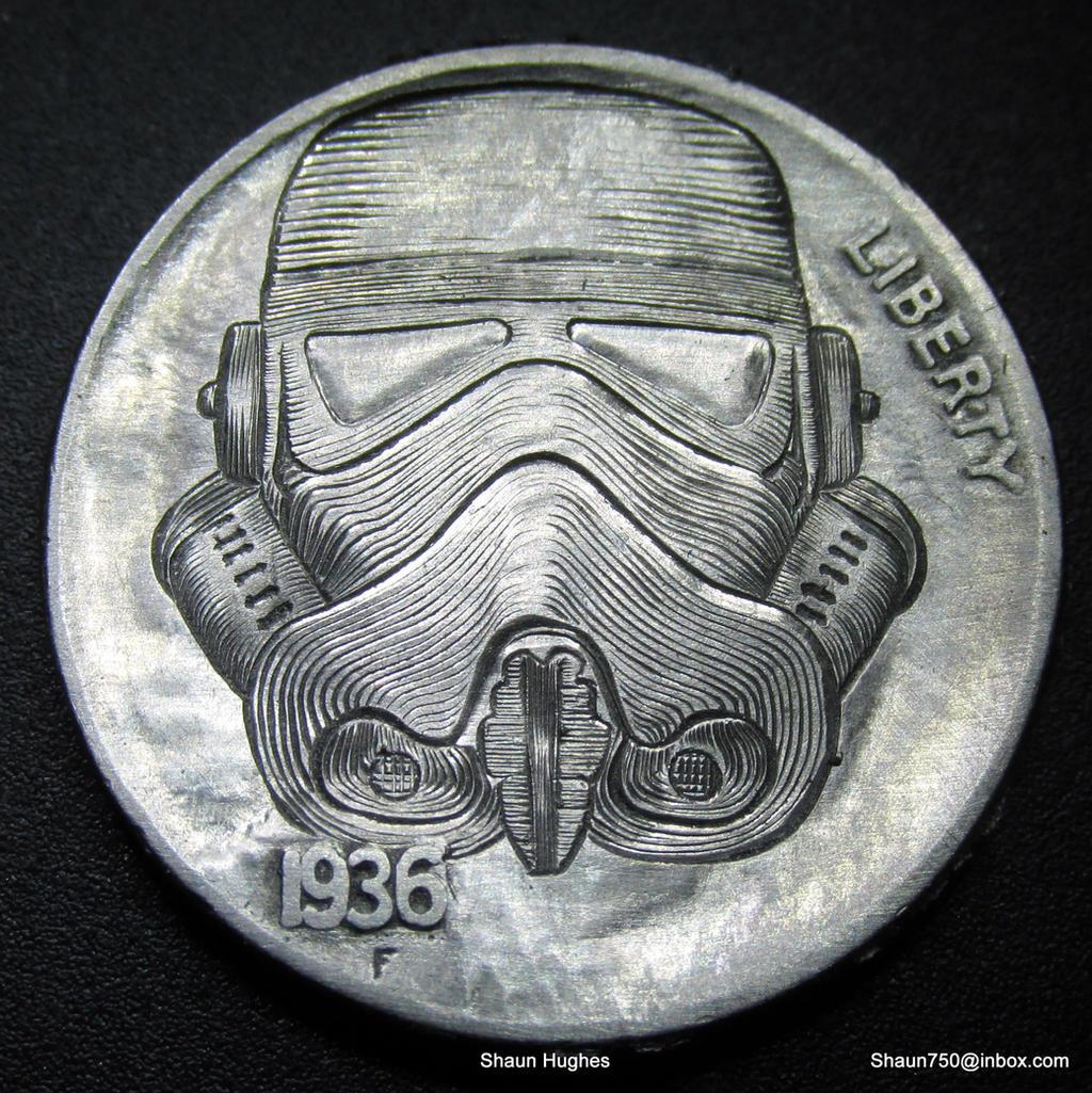 Star Wars Stormtrooper Carved Nickel  Shaun Hughes