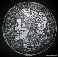 Carpe Diem Re-carved Morgan Dollar by Shaun Hughes by shaun750