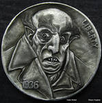Re Carved Nickel Nosferatu Dracula by Shaun Hughes by shaun750