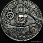 Mechanical Eye Hand Engraved by Shaun Hughes