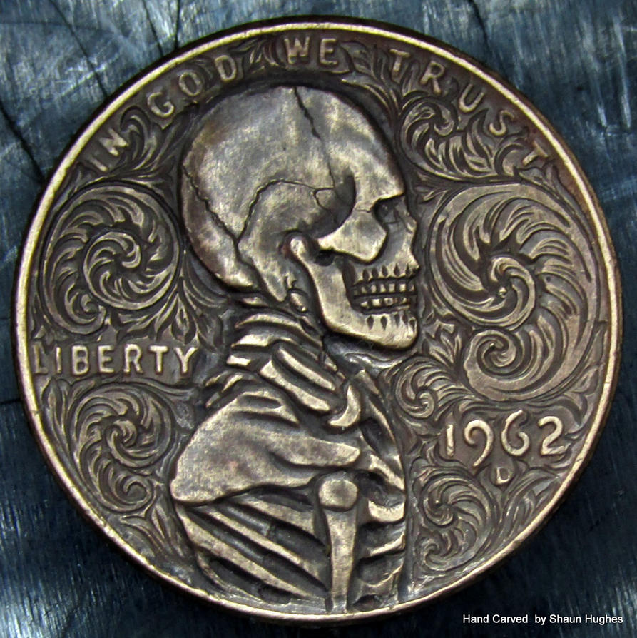 Lincoln Penny Scrollwork Skeleton By Shaun Hughes By