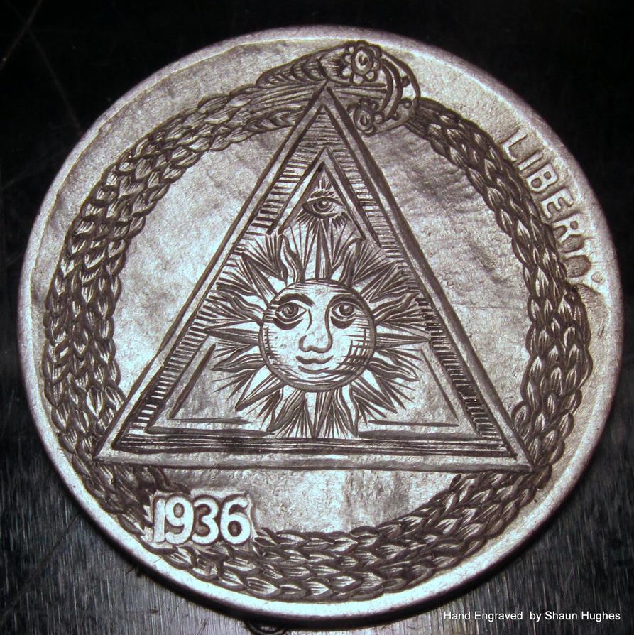 Hand Engraved Masonic Nickel by Shaun Hughes by shaun750