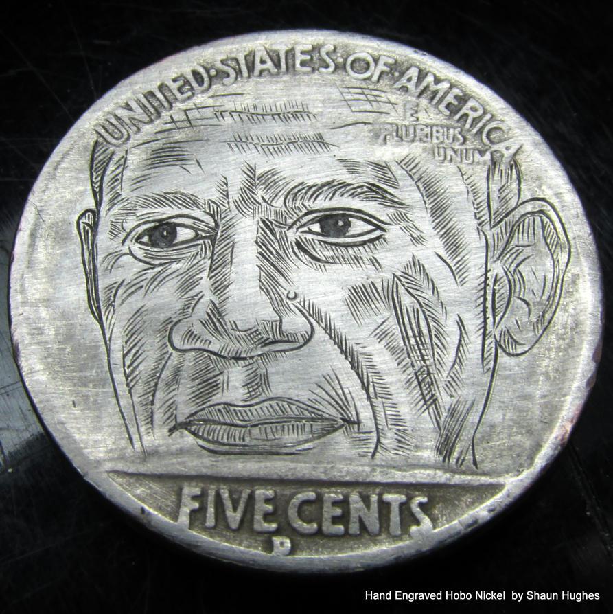 Hand Engraved Barack Obama Coin by Shaun Hughes by shaun750