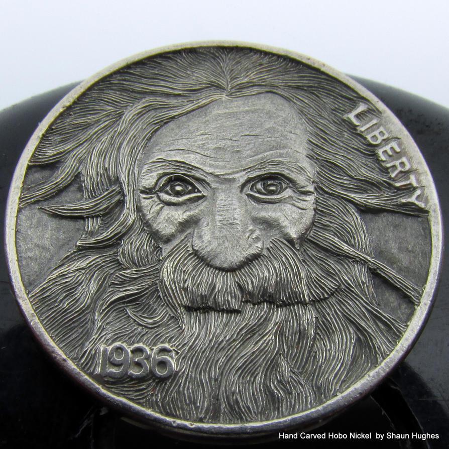 'The Eternal Optimist' Carved Coin by Shaun Hughes by shaun750