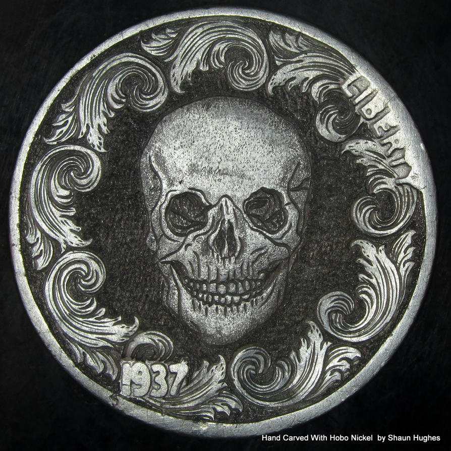 Scrollwork Skull by shaun750