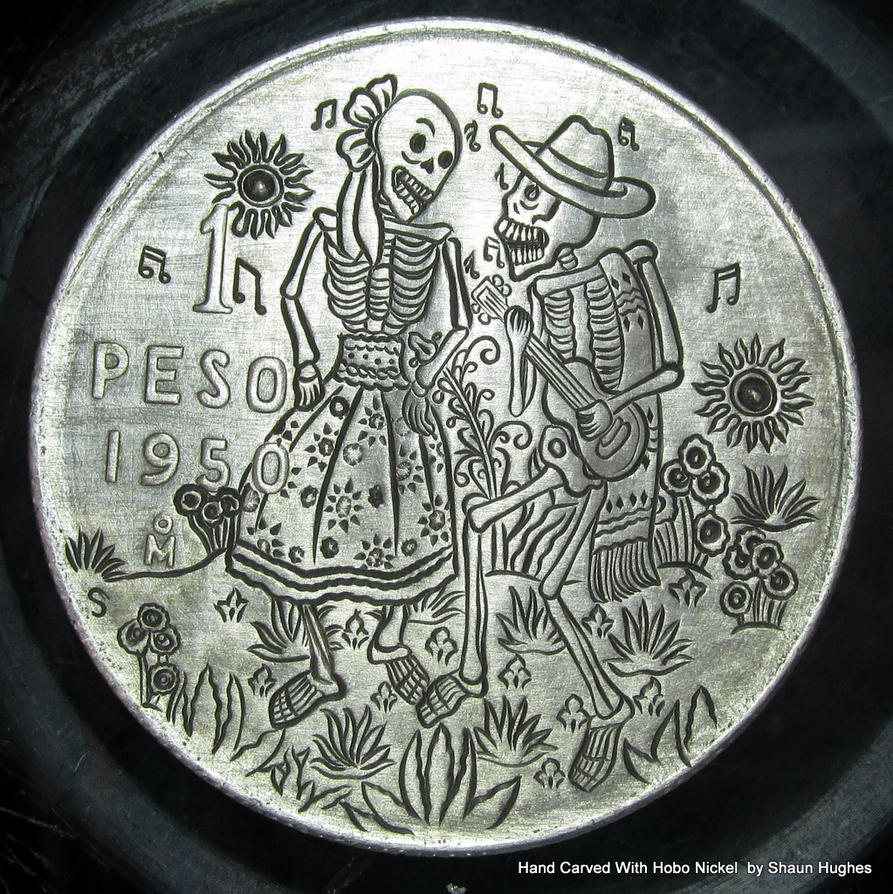The Last Dance Hand Engraved Coin by Shaun Hughes by shaun750