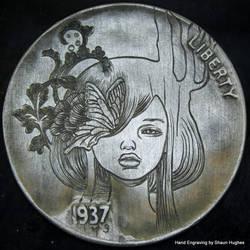 Audrey Kawasaki Hand Engraved Hobo Nickel by shaun750