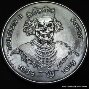 'Faded Nobility' Hand Carved Skull Polish 50 Zloty