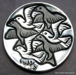 Escher Hand Carved Hobo Nickel