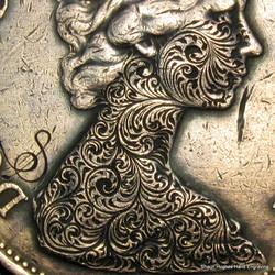 Hand Engraved Coin by Shaun Hughes by shaun750