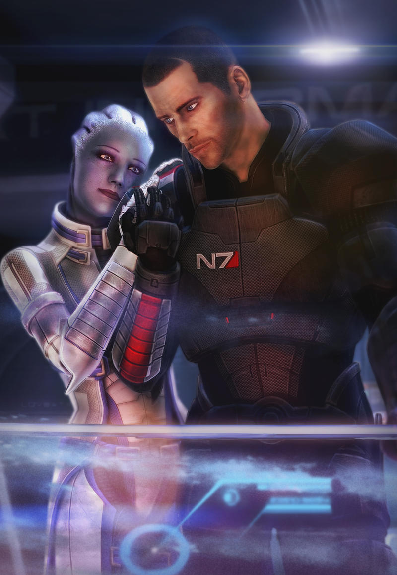 liara and male shepard by brinx-II
