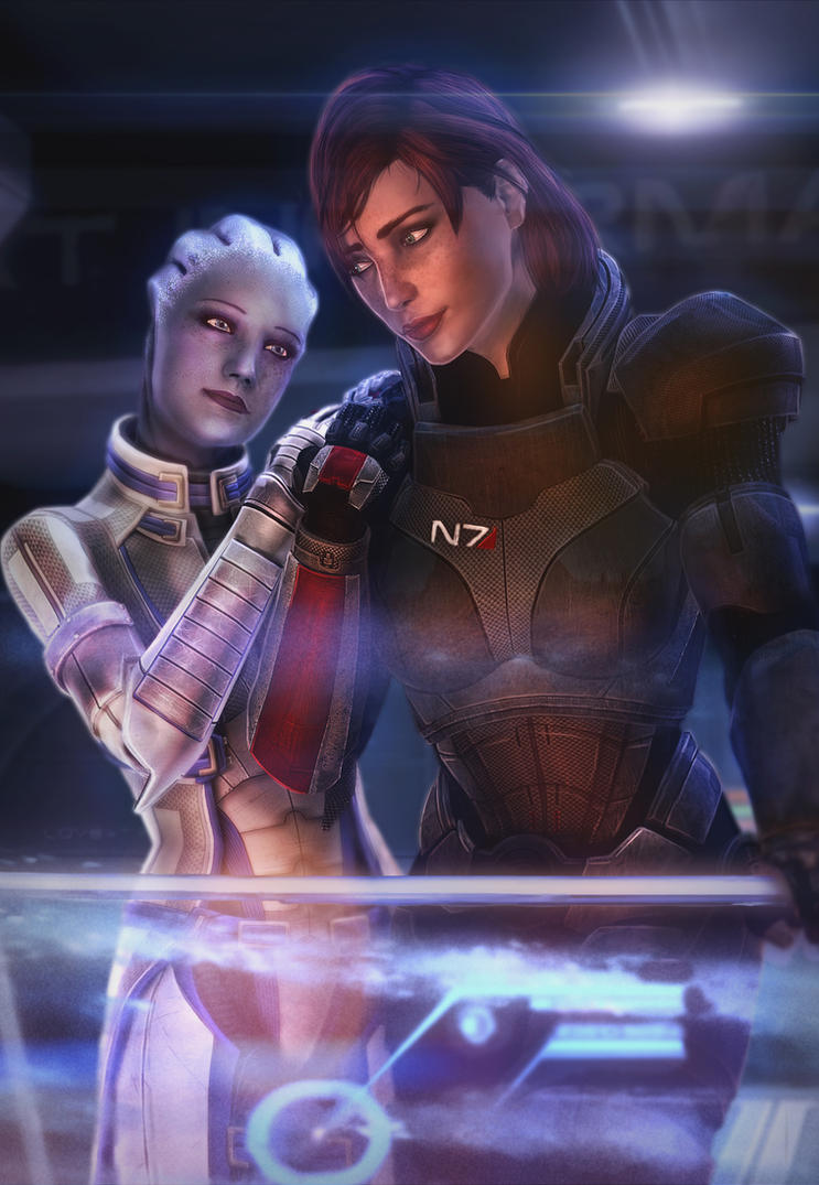 liara and female shepard by brinx-II