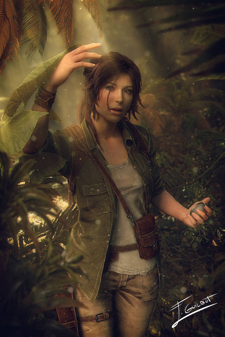 Lara exploring by brinx-II