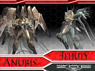 Jehuty and Anubis Wallpaper by omegaarchetype