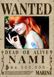 Nami's wanted poster by white-dragon-freya