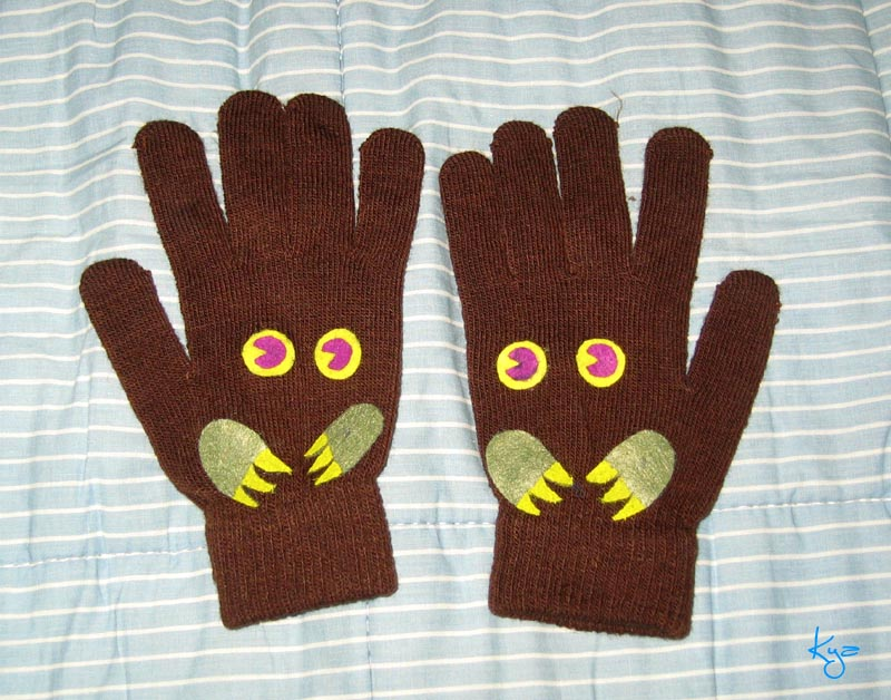 yu-gi-oh: Kuriboh gloves by white-dragon-freya