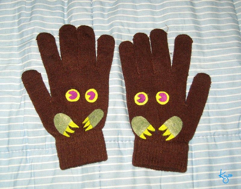 yu-gi-oh: Kuriboh gloves by white-dragon-freya