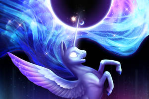 Celestia/Luna fusion by Nekiw