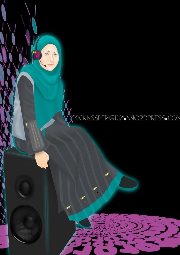 Hatsune Miku Hijab Version by hamzahinsancita