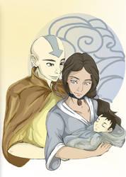 Aang and Katara-Couple 1 by Seraphim-burning