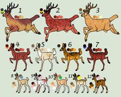 !!!CLOSED FREE!!! Deer Adoptables by KittyAdopts63