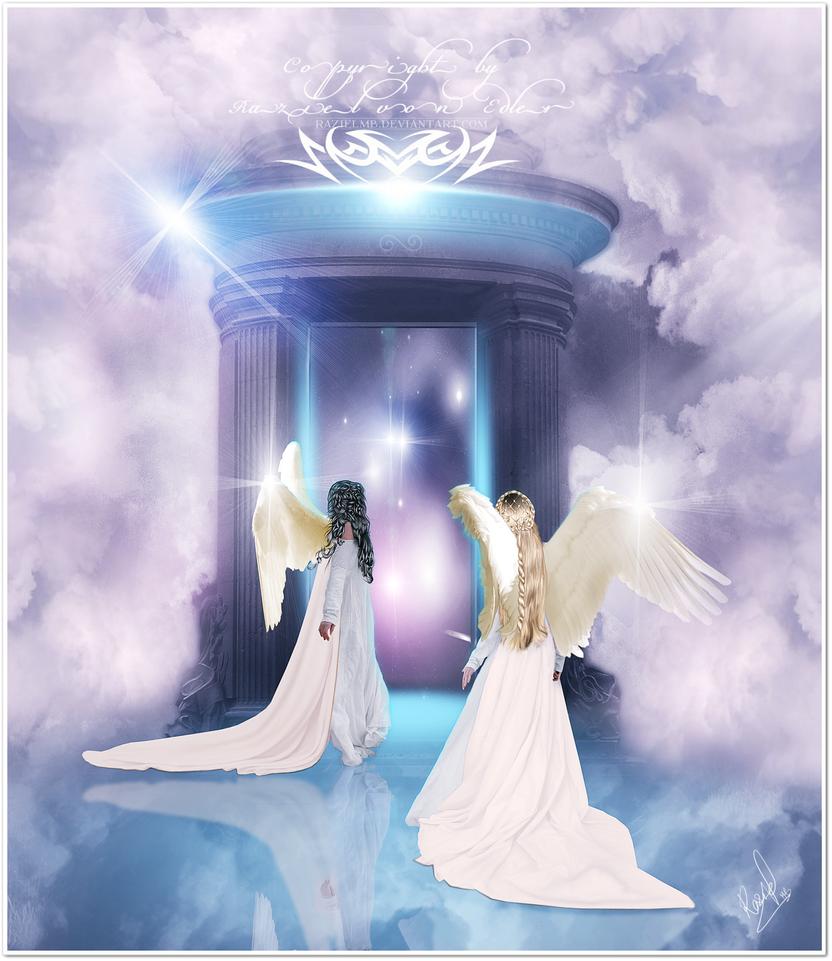 Heaven Gates With Angels Heaven 39 s Gate by Razielmb