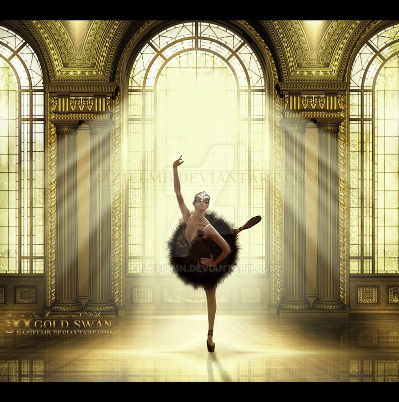 Gold Swan by RazielMB