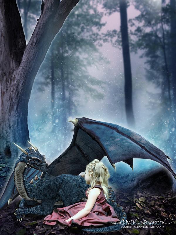 My blue dragon by GeneRazART