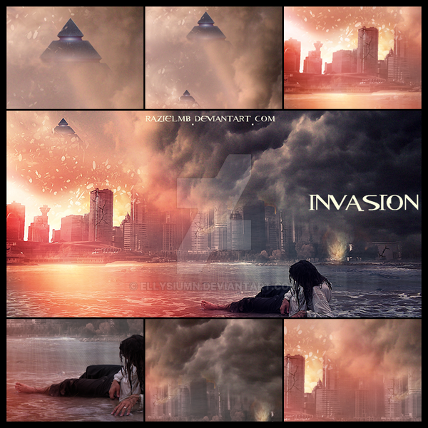 Invasion ~ mosaic by GeneRazART
