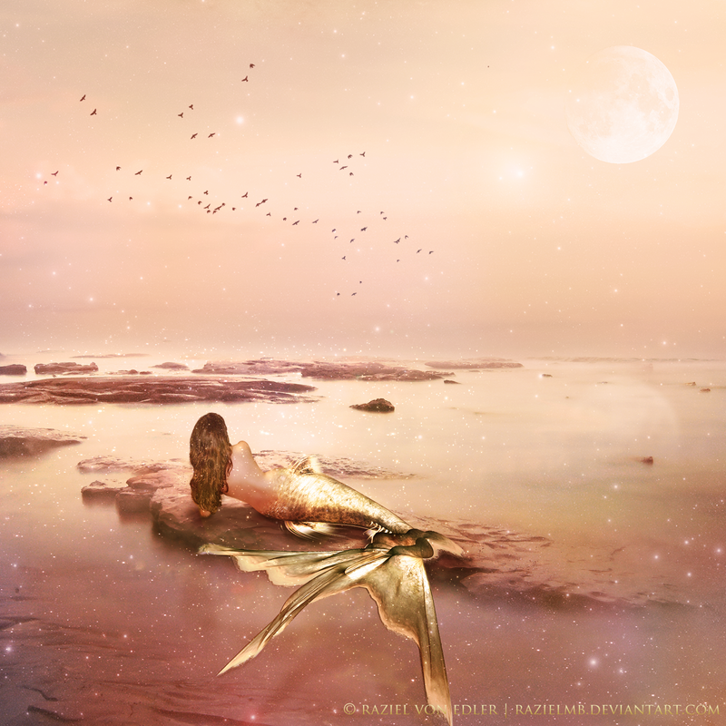 Golden Mermaid ~ Daily Inspiration by RazielMB