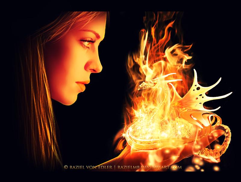 My Little Fire Dragon by RazielMB