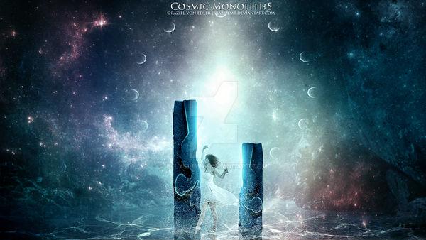 Cosmic Monoliths by Ellysiumn